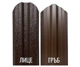 Метална ограда еднолицева – тъмно кафяв RAL 8019 Hi-Mat