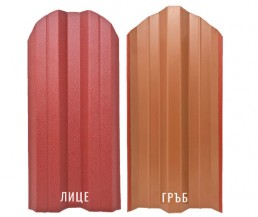 Метална ограда еднолицева Мат /BGM/ цвят Червен RAL 3011