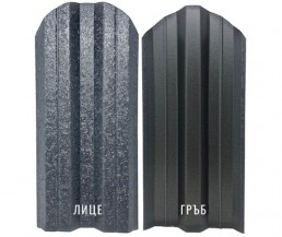 Метална ограда еднолицева Hi-Mat с матов ефект цвят Тъмно сив
