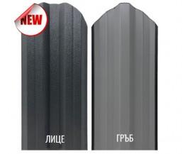 Еднолицев профил за метална ограда Класик сив графит МАТ BGM 0,4 мм