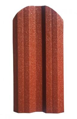 """Метална ограда еднолицева Hi-Mat с матов ефект цвят """"Керемида"""""""