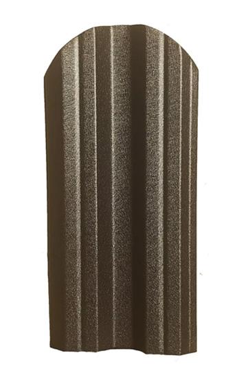 Метална ограда еднолицева – цвят кафяв RAL 8019 (BGM)