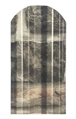 Метална ограда еднолицева – принт камък