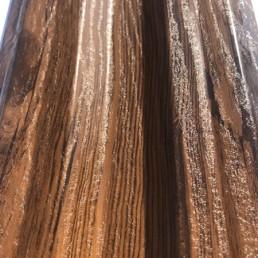 "Метална ограда еднолицева – цвят ""Орех"""