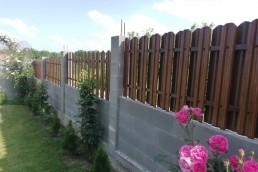 "Двулицева ограда цвят ""Орех"""