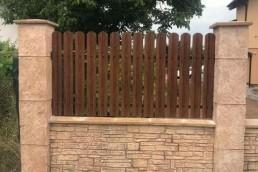 "Еднолицева ограда цвят ""Орех"""
