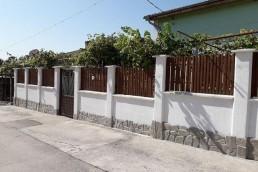 Еднолицева ограда цвят Махагон