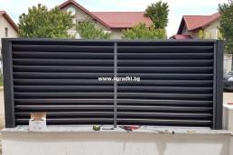 Декоративни ламели за щори за ограда-Еднолицеви ламели цвят РАЛ 8019