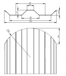 Вертикална метална ограда