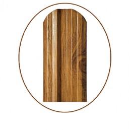 "Еднолицев профил за метална ограда Класик – цвят ""Златен дъб"""